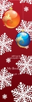 christmas ball bookmark