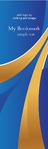 bookmark blue and gold