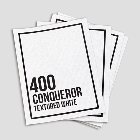 400 Conqueror Textured White